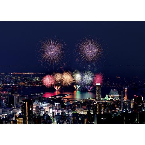 横浜汽車道から見た花火