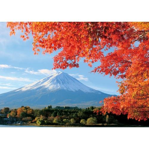 紅葉越しに見る富士山